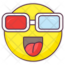 3 D Glasses Emoji 3 D Glasses Expression Emotag Icon