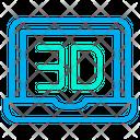 3D Laptop Icon