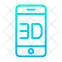 D Mobile Phone Icon