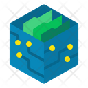 D Model Artificial Cube Save Icon
