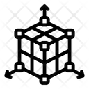 3 D Three Dimensional 3 D Cube Icon