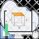3 D Cube 3 D Module 3 D Modelling Icon