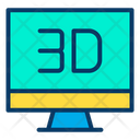 3 D Monitor Icon
