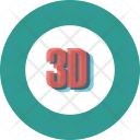 3d monitor Icon