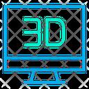 3 D Monitor Icon