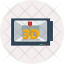 Modelling 3 D Printing Icon