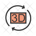 Rotation 3 D Icon