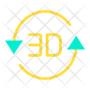 3D Rotation Icon
