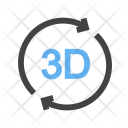 3 D Rotation Icon
