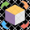 Three Dimensional Technology Icon
