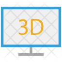 3 D Tv Television Icon