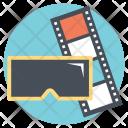 3 D Video Stereoscopic Icon