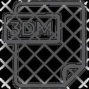 3 Dm File Document File Icon