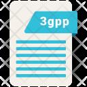 3 Gpp File Format Icon