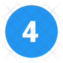 4 Circled Number Icon