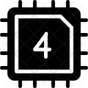 Cpu 4 Bit Icon