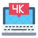 4 K Pixel High Definition Laptop Icon