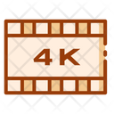 4 K Display 4 K Screen Quality Icon