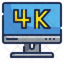 4 K Display Icon