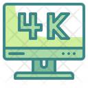 4 K Display 4 K Video Monitor Icon