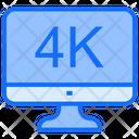 4 K Display Display 4 K Icon