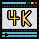 4 K Film High Definition Entertainment Icon