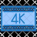 4 K Film 4 K Movie 4 K Video Icon