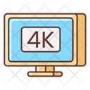 4 K Monitor 4 K Display 4 K Screen Icon