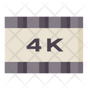 4 K Screen 4 K Display Quality Icon