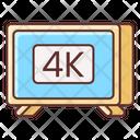 4 K Tv 4 K Screen 4 K Display Icon