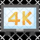 4 K Tv 4 K Display Monitor Icon