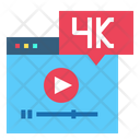 4 K Size Video High Definition Website Icon