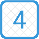 Four Number Keyboard Icon