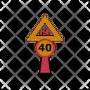 40 Speed Limit Icon