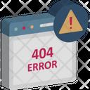 404 Error Message 404 Not Found Http 404 Icon