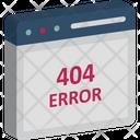 404 Error Message 404 Not Found Access Denied Icon