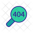 404 Error Search Icon