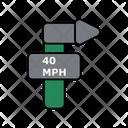 40 Mph Speed Limit Icon