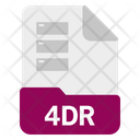 4 Dr File Format Icon