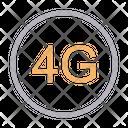 4 G Internet G Icon