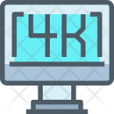 Display Screen 4 K Icon