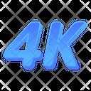 4 K Movie 4 K Film Digital Film Icon