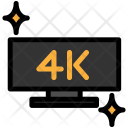 4 K Screen Uhd Icon