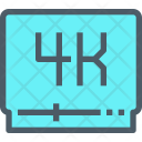 Video 4 K Player Icon