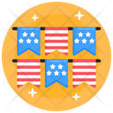 4th July Buntings Icon