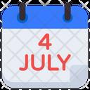 4th July Calendar Reminder Schedule Icon