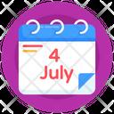 4th July Calendar Icon