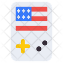 4th July Gamepad Portable Game Device Game Console Icon