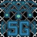 5 G 5 G Network Infrastructure Icon
