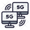 5 G Connection Computer Connection 5 G Icon